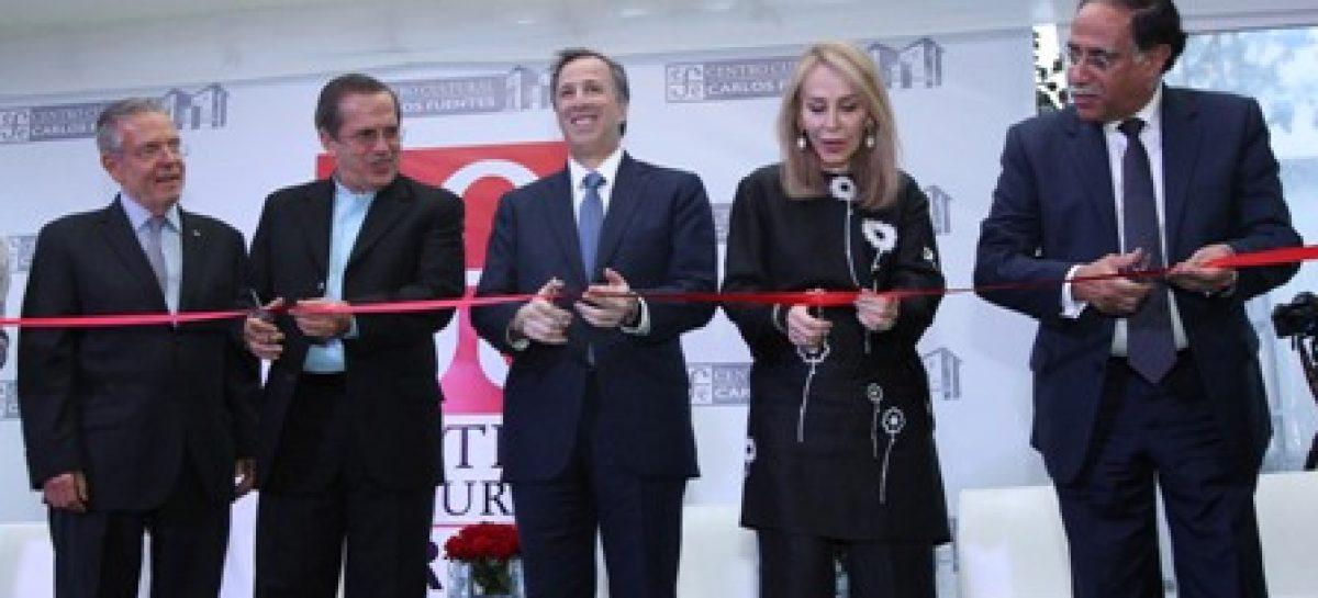 Cancilleres de México y Ecuador inauguran nueva filial del Fondo de Cultura Económica en Quito