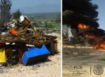 Incinera PGR Oaxaca más de media tonelada de narcóticos