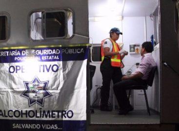 Aplica Policía Vial operativo Alcoholímetro en Oaxaca, 16 conductores infraccionados