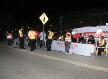 Siete conductores asegurados durante operativo Alcoholímetro en Huajuapan de León, Oaxaca