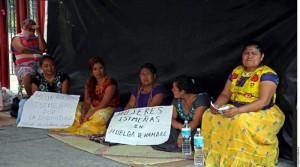 Mujeres huelga de hambre Juchitán Cámra de Dip