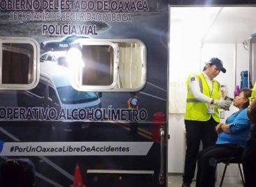 Arrestadas 645 personas por conducir en estado de ebriedad de enero a septiembre, en Oaxaca