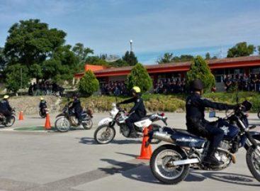 Culminan curso de motociclismo táctico 38 policías estatales y viales del estado de Oaxaca