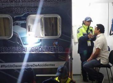 Positivas 11 de 41 pruebas de alcoholemia durante operativo Alcoholímetro en Oaxaca