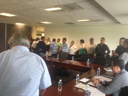 La reunión a petición de los transportistas