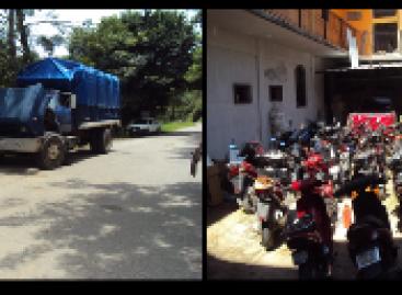 Aseguran 34 motocicletas con diversas irregularidades en Rio Grande Juquila, Oaxaca