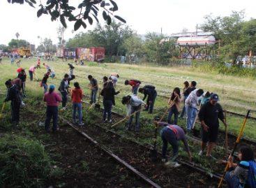 Participan más de 200 personas en segundo tequio cultural del Museo del Ferrocarril Mexicano del Sur