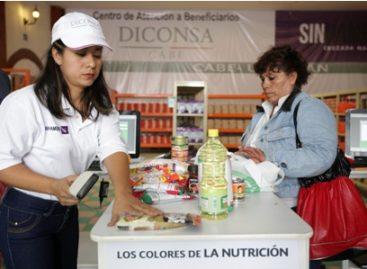 Suministra Diconsa 19 productos nutritivos a beneficiarios de la Tarjeta SINHambre