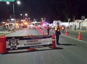 Asegura Policía Vial y Estatal de Oaxaca a 15 conductores en Operativo Alcoholímetro