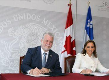 Profundizan México y Quebec vínculos y actualizan instrumentos de cooperación