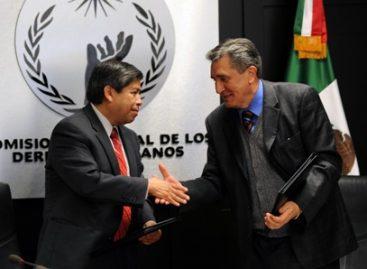 Firman CNDH y Colef convenio de colaboración para atender el fenómeno migratorio
