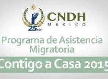"""Observará CNDH respeto a derechos humanos de mexicanos que regresan de EU con programa """"Contigo a casa"""""""