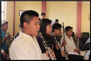 El más pequeño de los músicos es Miguel Ángel Arenas Mendoza, de 7 años de edad