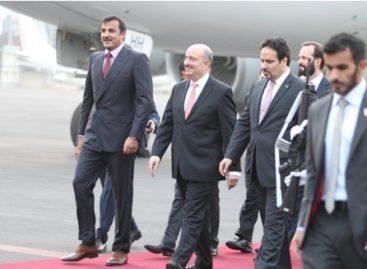 Llega a México el emir del Estado de Qatar, Jeque Tamim bin Hamad Al-Thani