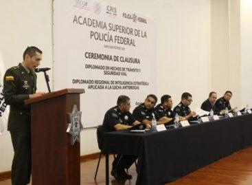 Concluyen policías federales diplomados en materias de inteligencia contra el tráfico de drogas y de seguridad vial