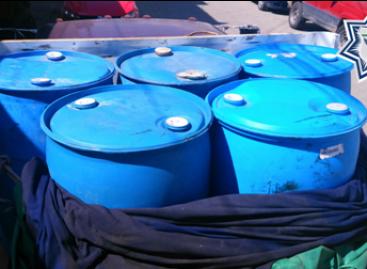 Detiene Policía Vial de Oaxaca a dos sujetos por transportar mil litros de gasolina de forma irregular