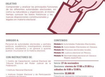 """Inicia """"Diplomado en Materia Electoral""""; Analizarán funciones de las autoridades electorales"""