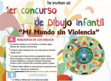 """Convocan a participar en el Primer Concurso de Dibujo Infantil """"Mi Mundo sin Violencia"""""""