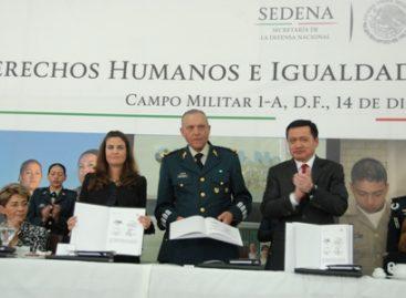 Presenta Sedena logros en materia de Derechos Humanos e Igualdad de Género