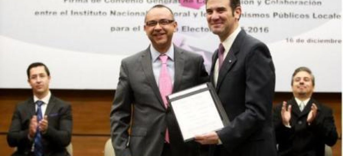 Firman Instituto Electoral de Oaxaca e INE Convenio de Coordinación y Colaboración