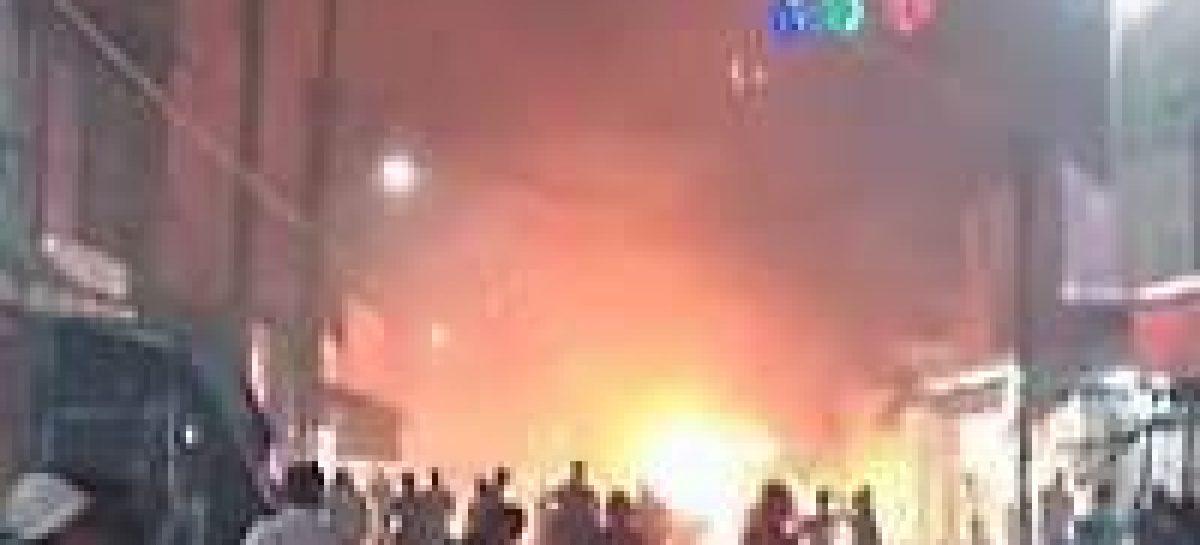 Cuantiosos daños materiales deja explosión de puestos de pirotecnia en Tuxtepec, Oaxaca