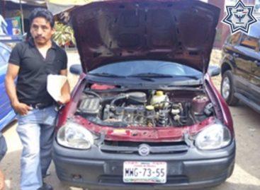 En acción coordinada, recupera Policía de Oaxaca tres camionetas robadas en una llantera