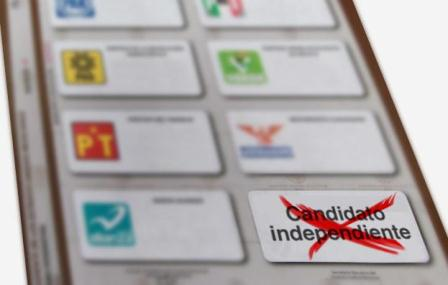 Hay tres candidatos independientes