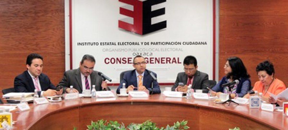 Aprueba IEEPCO financiamiento para partidos políticos en Oaxaca