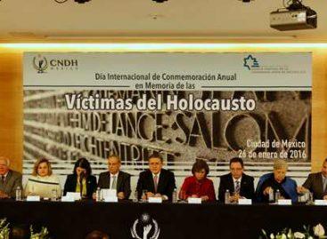 Conmemoración en memoria de víctimas de holocausto; la lección, respeto a la dignidad humana