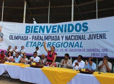 Inaugura Juchitán con fiesta, Juegos Olímpicos en su etapa regional