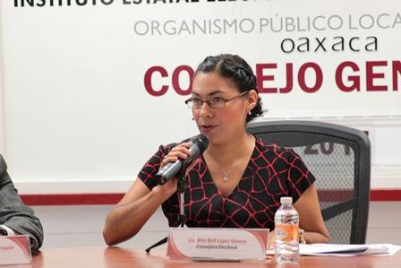 presidenta de la Comisión de Quejas y Denuncias del IEEPCO