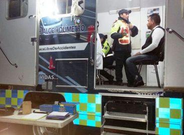 Aseguran a 13 conductores en Operativo Alcoholímetro implementado en Oaxaca de Juárez