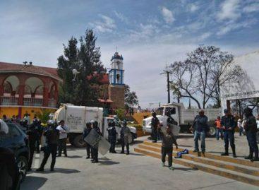 Restablecen fuerzas de seguridad el orden público en Santa María Atzompa, Oaxaca