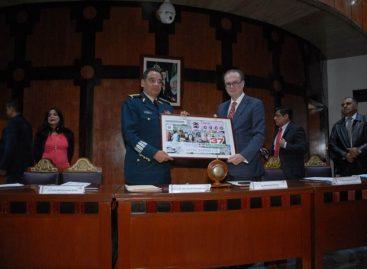 Realizan sorteo del billete de lotería conmemorativo al CIII Aniversario del Ejército Mexicano