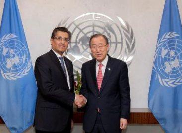 Presenta embajador Juan José Gómez Camacho cartas credenciales al secretario General de la ONU, Ban Ki-moon