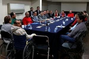 Se reúnen con funcionarios de la CNDH