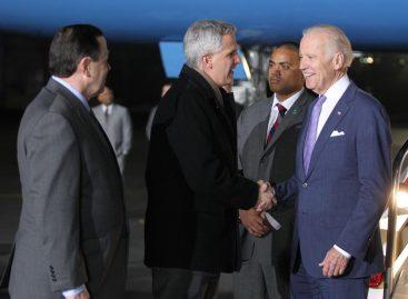 Joseph Biden arribó a la Ciudad de México