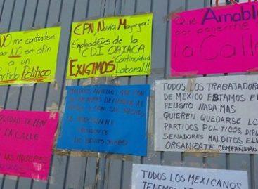 Un mes trabajadores de la CDI exigiendo derechos laborales