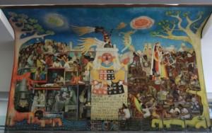 """""""El pueblo en demanda de salud"""", de Diego Rivera."""