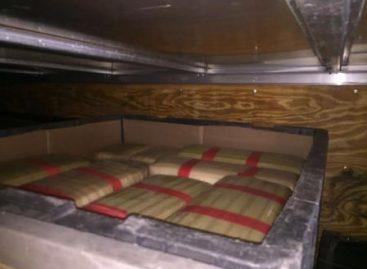 Asegura Policía Federal cargamento de tarimas que ocultaba cuatro toneladas de marihuana, en Sonora