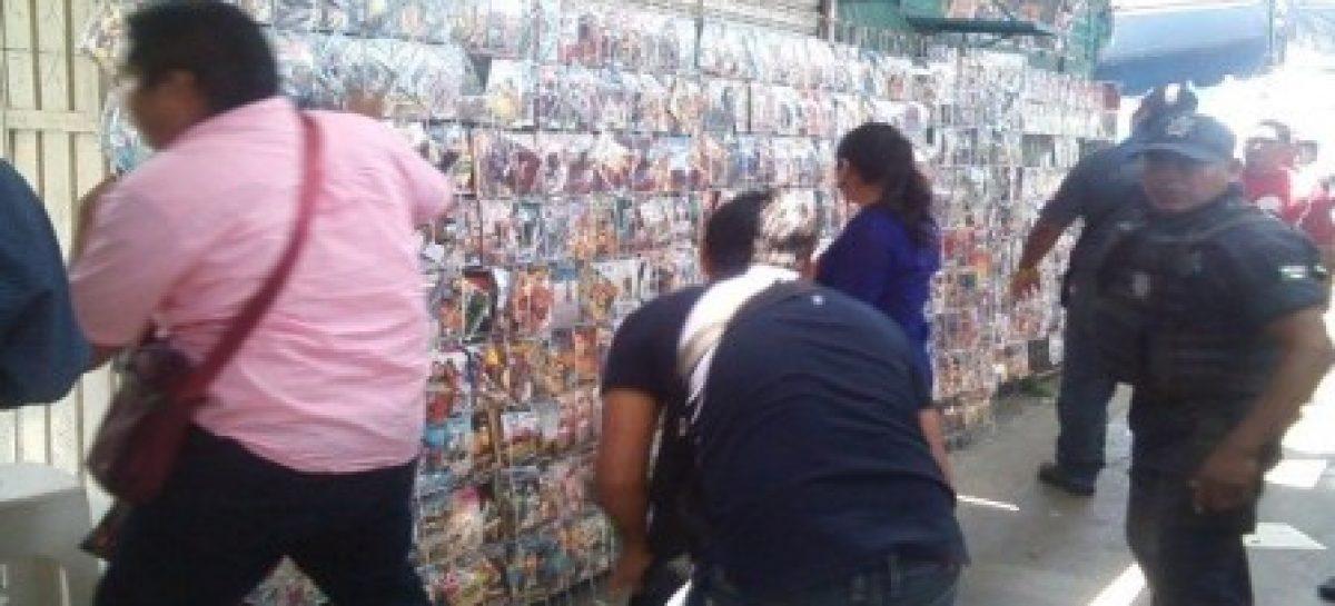 Retira PGR Oaxaca del mercado informal más de nueve mil discos apócrifos