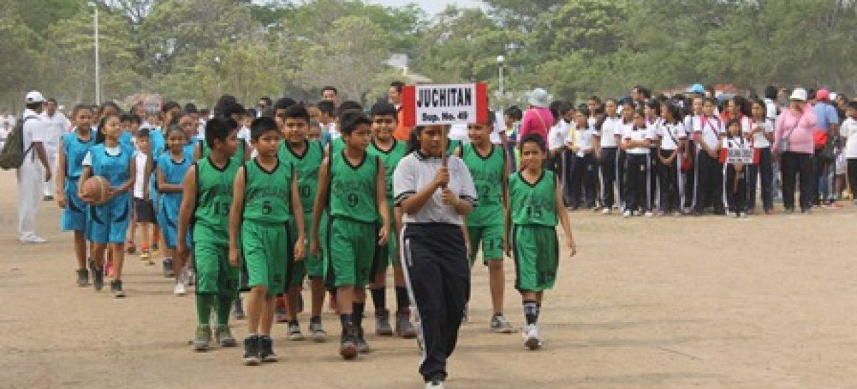 En Juchitán, inauguran juegos región Istmo; Participan 14 supervisiones escolares de Educación Física nivel primaria
