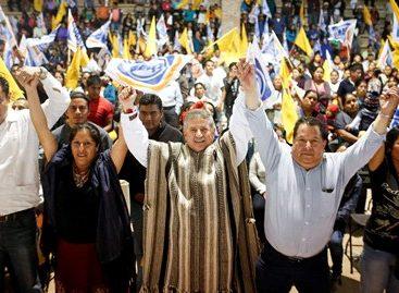Ustedes son mis ojos y mi corazón mixe, para lograr el triunfo de la Coalición CREO: Pepe Toño