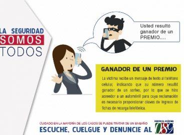 Identifica SSPO números telefónicos que operan para cometer fraudes con la modalidad de ganador de premio