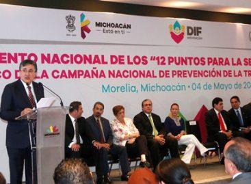 Michoacán, primer estado en adherirse a la campaña de la CNDH contra la trata de personas