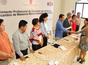 Participan 19 docentes oaxaqueños en el Intercambio de Maestros México-EU 2016