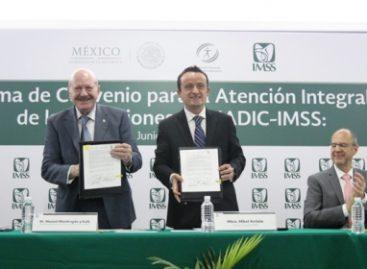 Firman IMSS y CONADIC convenio para la atención integral de las adicciones