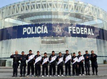 Realiza equipo de basquetbol infantil triqui actividades de acondicionamiento físico en la Policía Federal