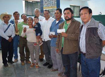 Entregan recursos IPASSA 2016 para proyectos de conservación y uso racional de suelo y agua