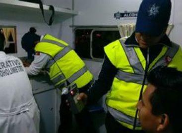 Arrestados ocho conductores durante dispositivo preventivo Alcoholímetro en Oaxaca